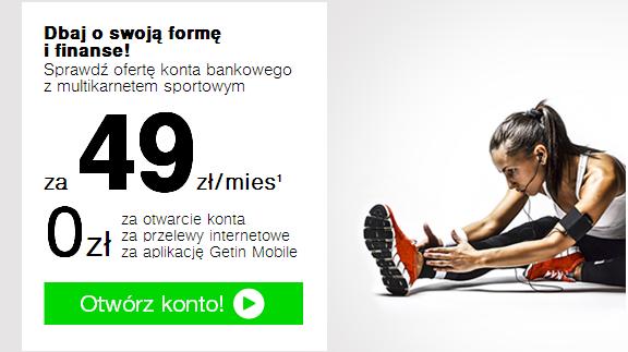 Getin Fitness konto